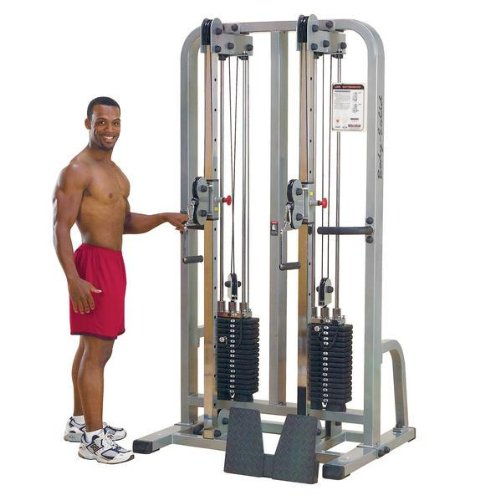 Body-Solid Pro Club Line SDC2000G1 Dual Cable Column with Dual 160-Pound Weight Stacks
