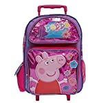 Peppa Pig Hot Pink Girls Large Rolling School Backpack
