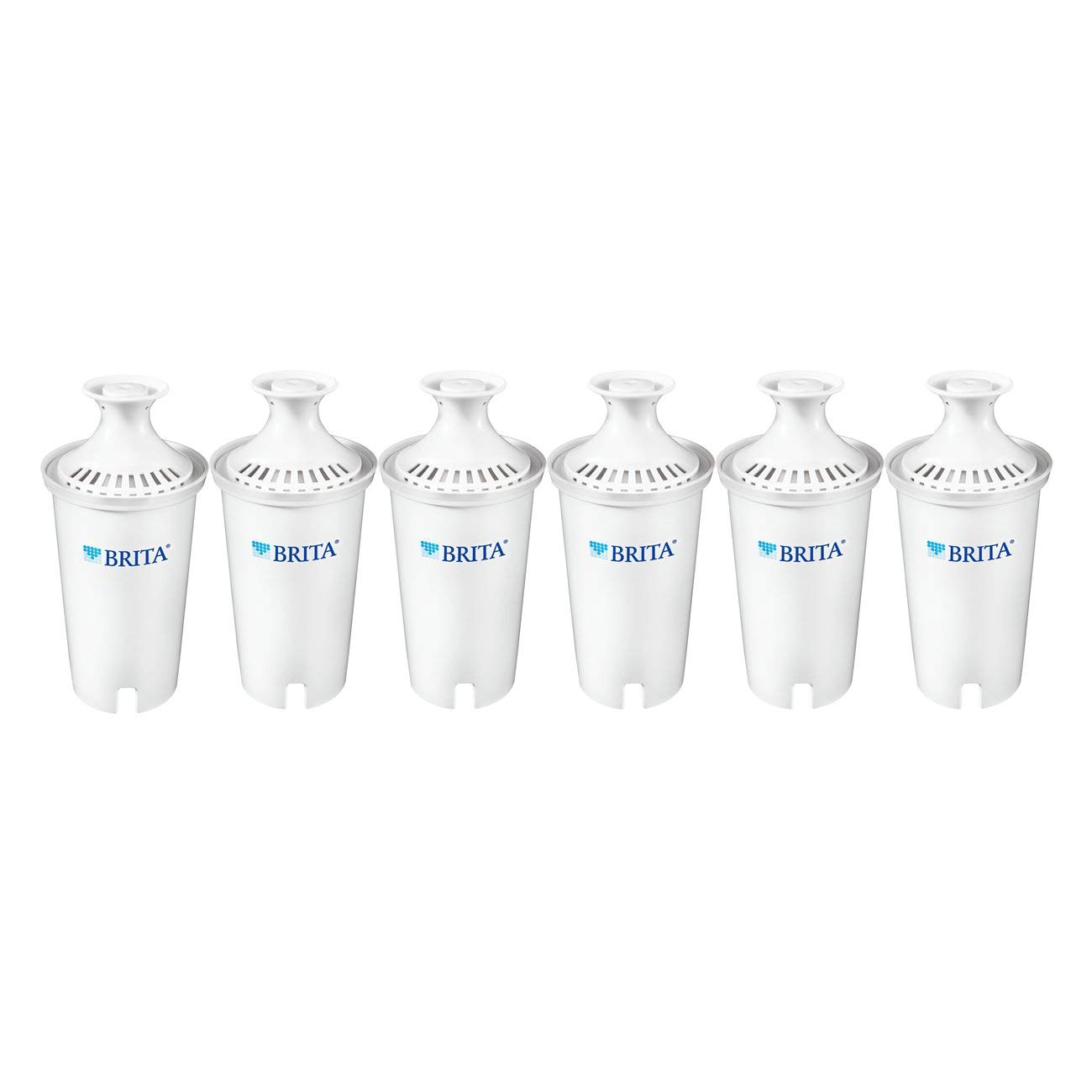 Brita Standard Water Filter, Standard Replacement Filters for Pitchers and Dispensers, BPA Free - 6 Count by Brita