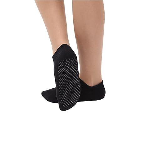 VORCOOL 2 Pares de Calcetines de Yoga Pilates Calcetines de algodón  Antideslizante Calcetines de Baile Ballet Deporte Masaje Tobillo Calcetines  para Mujeres ... 7bdbede1569f
