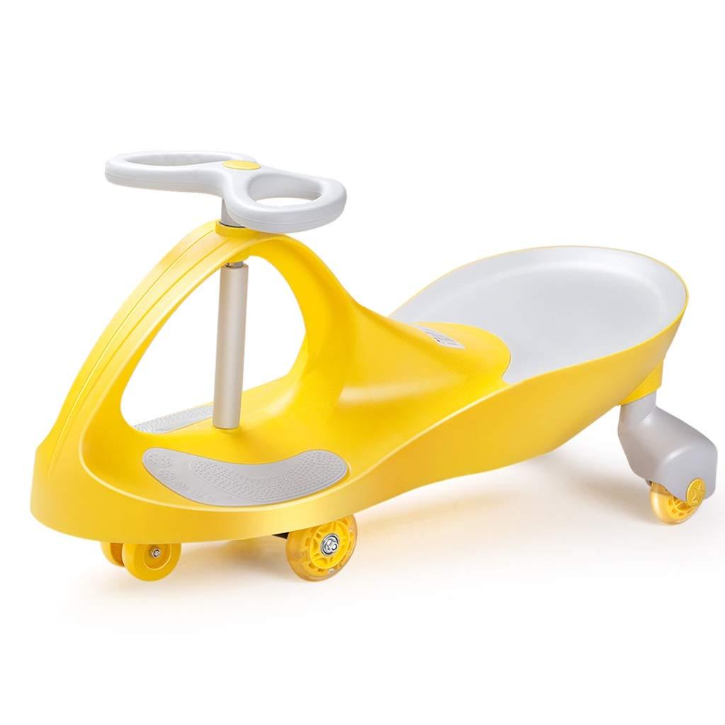 bleu 4029.578CM Marcheur silencieux magnétique de roue de jouet de torsion de voiture de jouet d'enfant équilibre de vélo portant la charge 100kg 1-3 ans cadeau de scooter ( Couleur   jaune , Taille   4029.578CM )