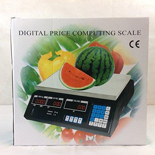 30KG Digital Scale Electronic Market Balance Weighing Machine Fruits Vegetable Price Computing Shop