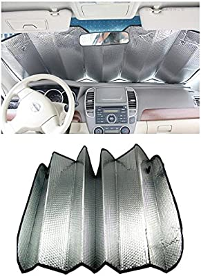 Metallic 60 x 130cm Silver Foldable Reflective Car Windscreen Shades