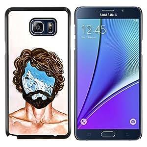 """Be-Star Único Patrón Plástico Duro Fundas Cover Cubre Hard Case Cover Para Samsung Galaxy Note5 / N920 ( Retrato Hombre Mente Jefe Vida Pensamientos Símbolo"""" )"""