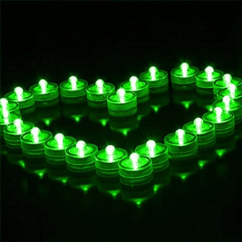 12pcs LED Submersible Waterproof Party Candle Green - 5