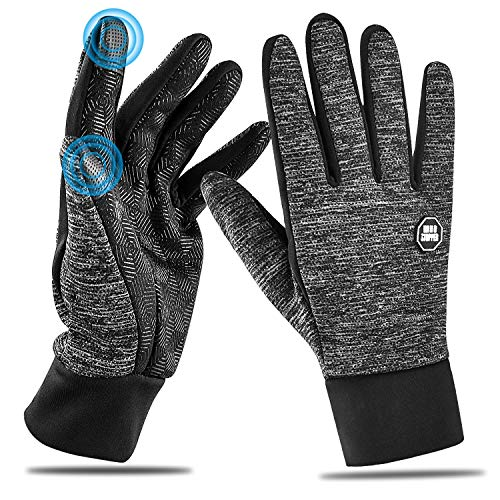 HOOMIL 2018 Newest Winter Touchscreen Gloves for Men Women(M/L/XL) Unisex Warm Comfortable Windproof Running Cycling Ski Snowboard Touchscreen Fleece Gloves Black