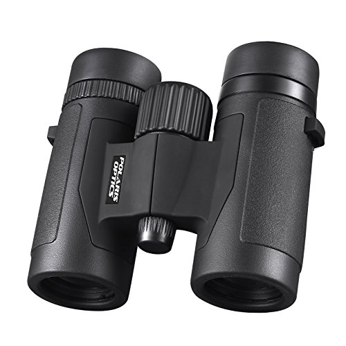 Polaris Optics Spectator 8X32 Compact Bird Watching Binoculars - Lightweight and Compact for Hours of Bright,