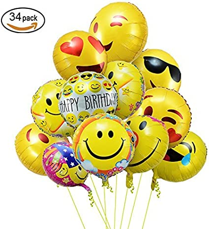 "EMOJI BALLOON 18/"" EMOJI SUNGLASSES BIRTHDAY  PARTY SUPPLIES BETALLIC BALLOON"