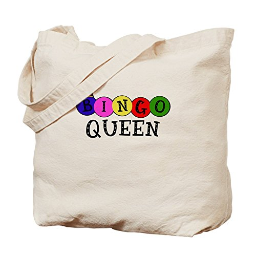 Cafepress–bingo Queen–Borsa di tela naturale, tessuto in iuta
