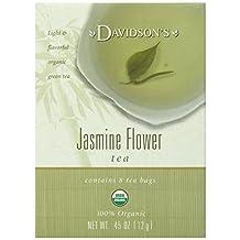 Davidson's Tea Jasmine Flower Tea, 8-Count Tea Bags (Pack of 12)
