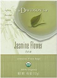 Davidson's Tea Jasmine Flower Tea, 8-Count Tea Bags (Pack of