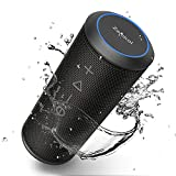 Portable Bluetooth Speaker, Zamkol Wireless Outdoor Speakers Enhanced Bass and Ambient LED Light