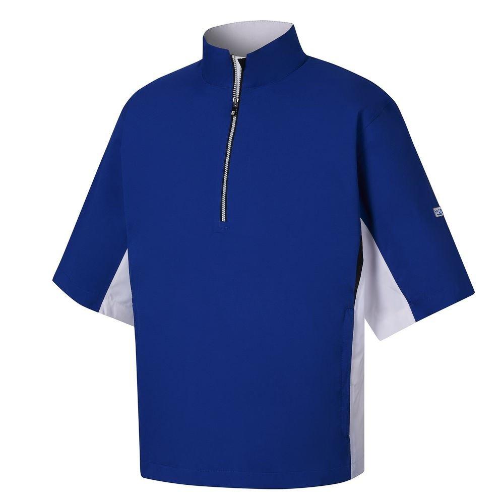 FootJoy HydroLite Short Sleeve Rain Golf Shirt 2017 Royal/White/Black XX-Large by FootJoy