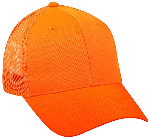 - Outdoor Cap Mesh Back Cap, Blaze Orange, One Size
