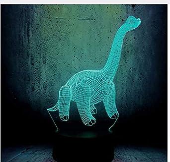 Parque Dinosaurio 3D Usb Lámpara Led Figura Luz de Color ...