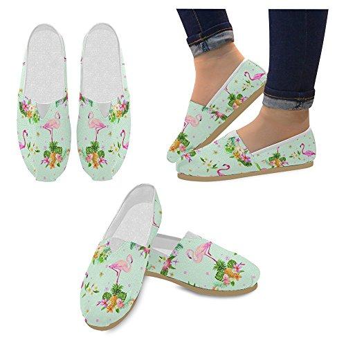 Interestprint Mocasines Para Mujer Clásico Casual Slip On Zapatos De Moda Sneakers Flats Flamingo Bird