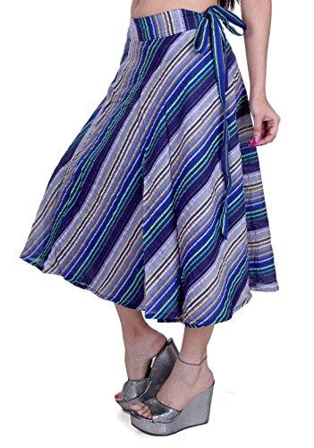 Sarjana Handicrafts - Falda - para mujer azul marino