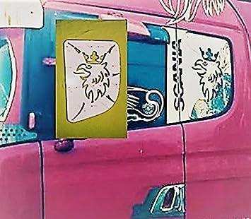 4 pezzi Decorazione in acciaio inox cromato per sportello di camion Scania