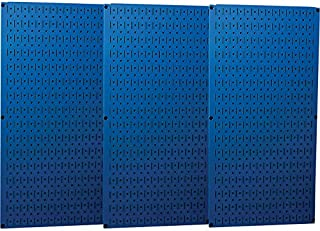 product image for Wall Control Industrial Metal Pegboard - Blue, Three 16in. x 32in. Panels, Model Number 35-P-3248BU