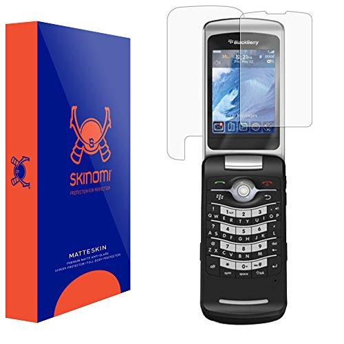 (BlackBerry Pearl Flip 8220 Screen Protector, Skinomi MatteSkin Full Coverage Screen Protector for BlackBerry Pearl Flip 8220 Anti-Glare and Bubble-Free Shield)