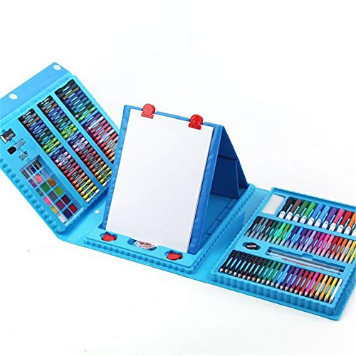 JIANGXIUQIN Artist Art Drawing Set, Art Case with Easel 208 Pieces of Luxury Kit for Coloring, Art, Drawing, Calligraphy, Comics. Gifts for Children and Children. (Color : Blue) by JIANGXIUQIN (Image #7)
