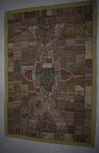 (Tribal Asian Textiles Patchwork Handmade Embroidered Wall Hanging Indian Vintage Home Decor ArtPatch)