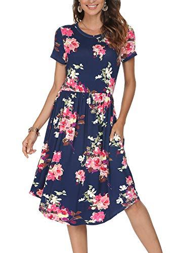 Simier Fariry Maxi Vestido Largo Estampado Floral Informal Para Mujer