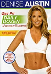 Denise Austin does a body good with her effective new workout system, Get Fit Daily Dozen. With 12 easy exercises in 12 minutes a day, you can get and stay fit with a program that fits your schedule. This slim-quick system includes five 12-mi...