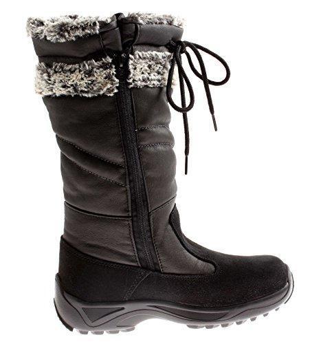 Lackner Winterstiefel Winterboots Schneestiefel Damen Schuhe Warm Tamara Schwarz