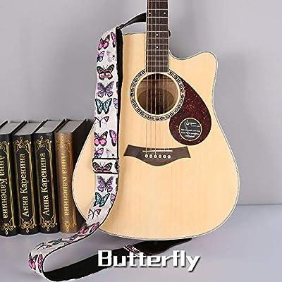 Correa de guitarra Dril de algodón tejido jacquard Rose de la ...