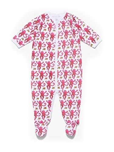 Roberta Roller Rabbit Infant Monkey Footie Pajamas 6-9 Months Pink