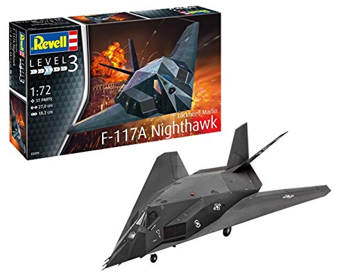 Revell 03899 F-117 F-117A Nighthawk Stealth Fighter, Multi Colour, 1: 72 Scale