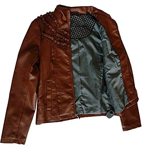 Steve Madden Nord Strom Womens PU Jacket (M, Plum)