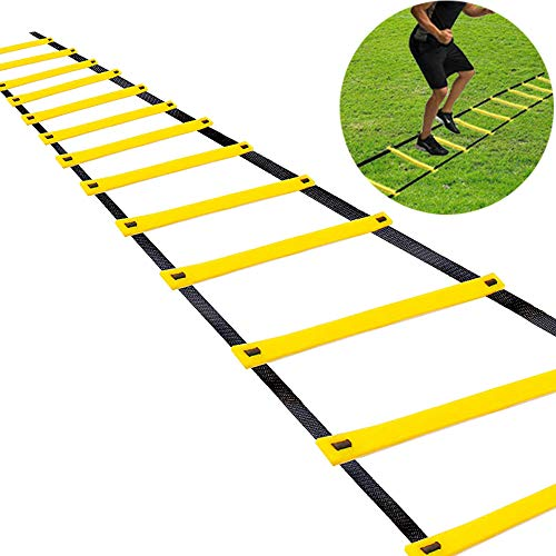 Teenitor 12 Rung Agility Ladder Speed Ladder Training Ladder for Soccer, Speed, Football Fitness Feet Training Carry Bag