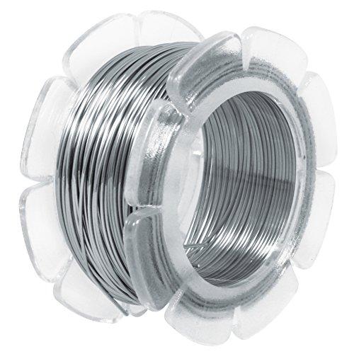 Rayher fil en acier inoxydable à modeler ø 0,5 mm – fil inox extrêmement malléable – fil acier inoxydable pour créer vos bijoux ou costumiser des objets de déco