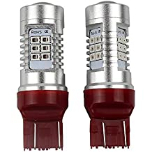 12V 24V Super Bright T20 7444NA 7443 LED Bulbs, Red Color, Replacement Car Back Up Lights, Reverse Lights, Tail Lamp, Brake Lights - Pack of 2