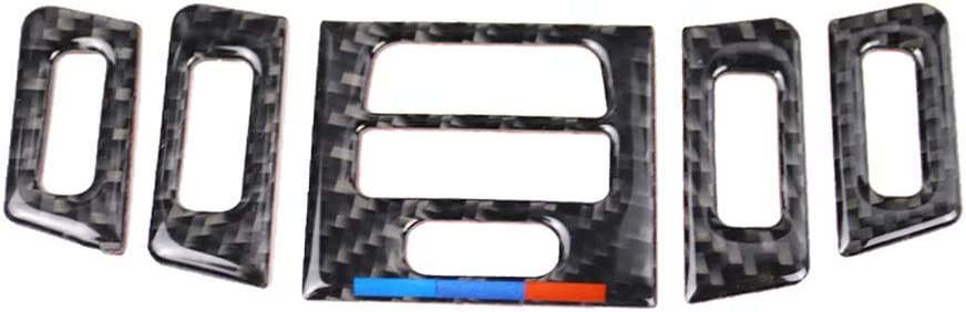 BESPORTBLE 1 Juego de Modificación de Fibra de Carbono Salida de Aire Etiqueta de Ventilación Cubierta Adhesiva Etiqueta de Salida de Aire Compatible para BMW E90 E92 E93
