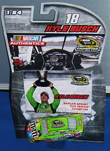 Homestead Race Win 2015 Kyle Busch #18 Crispy Paint Scheme 1/64 Diecast With Bonus Victory Lane Championship Celebration