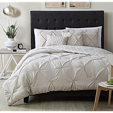 Avondale Manor Madrid 5 Piece Comforter Set, King, Taupe