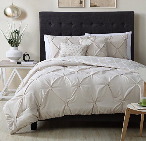 Down Piece Set 5 (Avondale Manor Madrid 5-Piece Comforter Set, King, Taupe)