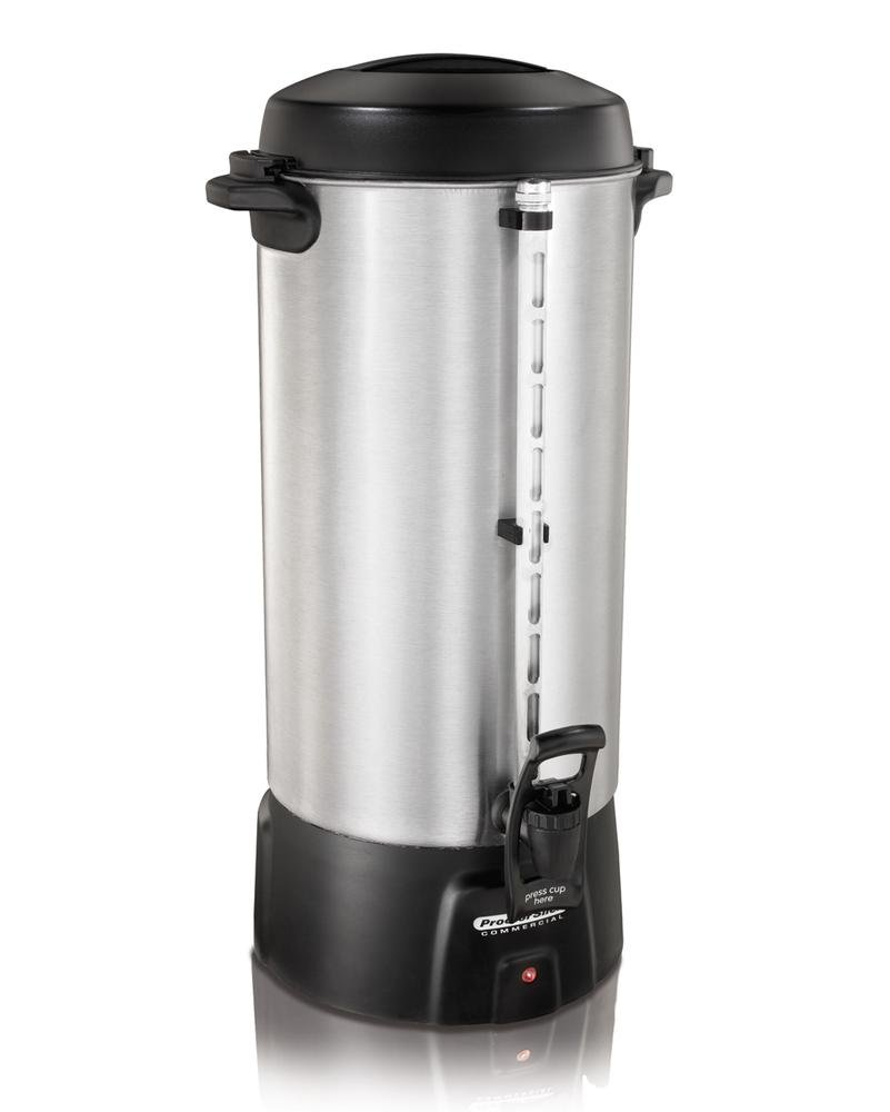 Image of Home and Kitchen Proctor Silex 45100 100 Cup Brushed Aluminum Coffee Urn