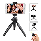YanXi7 Bluetooth Selfie Stick Tripod For iPhone,360° Adjustable Portable Universal Phone Tripod Stand for iPhone,Camera,Samsung with Bluetooth Camera Remote Shutter and Smartphone Clip Mount