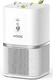 KOIOS Air Purifier for Home with H13 HEPA Filter, Small Portable Air Cleaner for Smoke Dust Pollen Pet Dander,