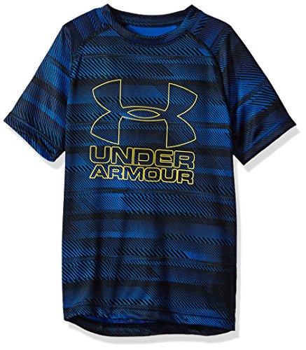 Under Armour Boys Big Logo Printed T-Shirt,Royal/Taxi, Youth Small