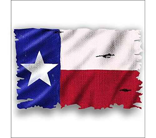 Texas burlap flag sticker Shipping