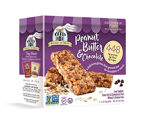 Main Peanut Butter (Bakery On Main Gluten-Free 4-4-8 Granola Bars, Peanut Butter & Chocolate, 6 Ounce Box (6 Count))