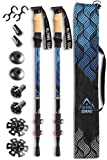 Alpine Summit Hiking/Trekking Poles with Anti-Shock Tips, Walking Sticks with Strong and Lightweight 7075 Aluminum and Cork Grips - Enjoy The Great Outdoors