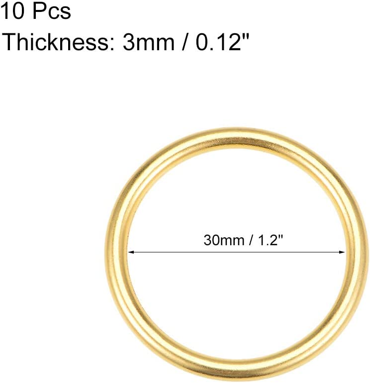 25mm O Ring Schnalle f/ür DIY Hardware Tasche Kunst 1 Gold sourcing map 10Stk