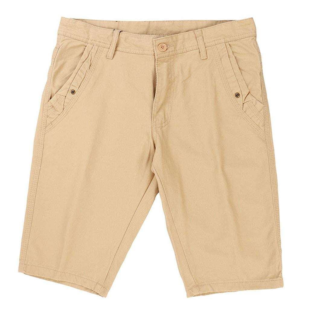 Farmerl Mens Shorts New Summer Loose Fit Cotton Cargo Casual Beach Short Pants