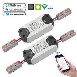 eMylo Wireless Smart WiFi 90-250 V AC Interruttore luce Relè temporizzatore telecomandato Compatibile con Alexa Echo… 18 spesavip